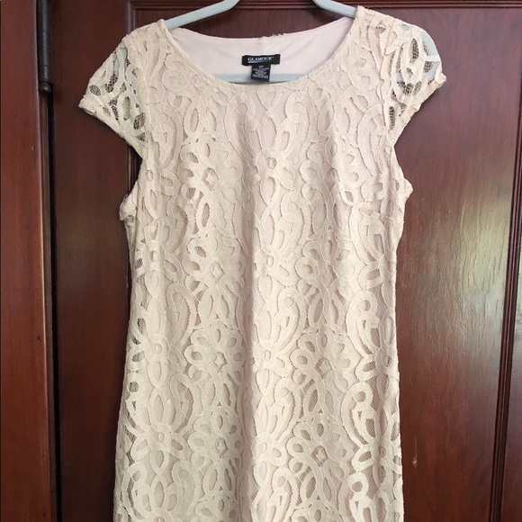 Business Casual Cream Colored Dress